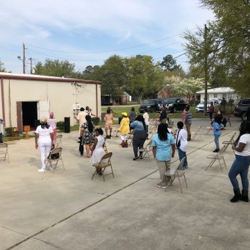 Church moves outdoors