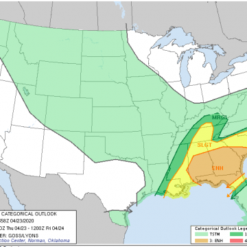 Storms not likely to be severe today