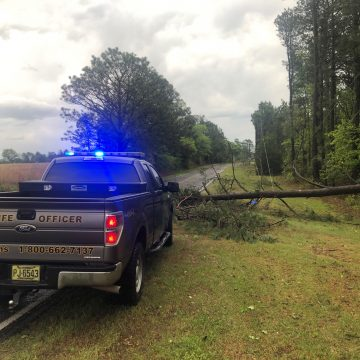 Calloway Road is closed