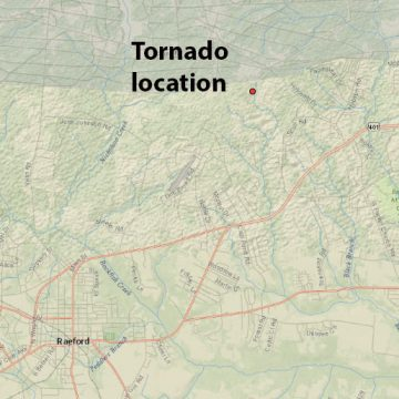 Tornado strikes