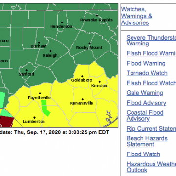 Hoke under tornado watch, flash flood watch