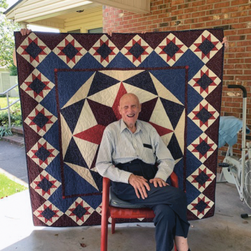 WWII veteran Young receives 'Quilt of Valor'