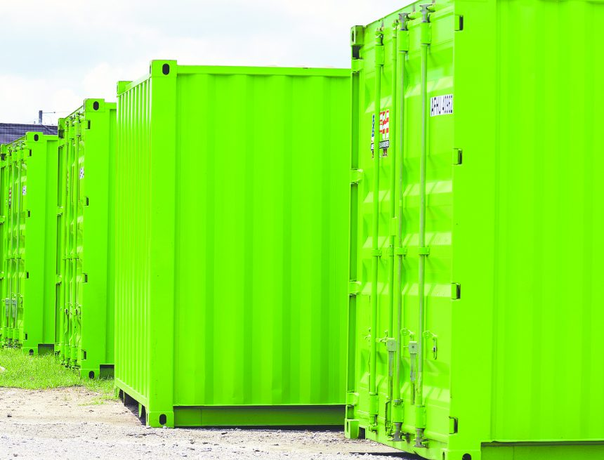 What is THAT in Raeford? – Green shipping containers and a great big wood chipper
