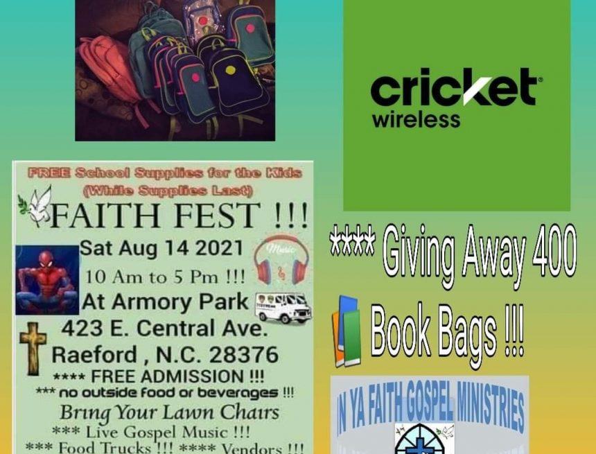 Faith Fest set for August 14