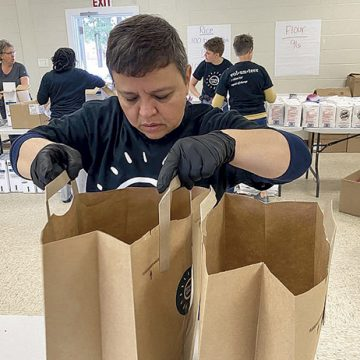 Fayetteville group sets up at Raeford civic center to feed families