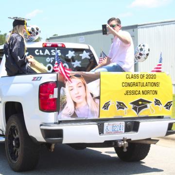 Sandhoke graduates drive through ceremony