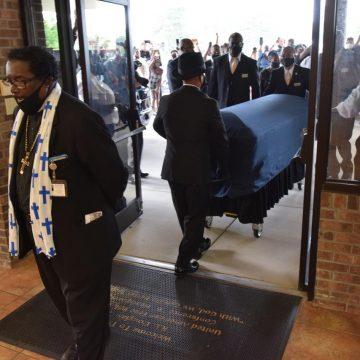 Memorial honors Floyd's life as speakers call for change