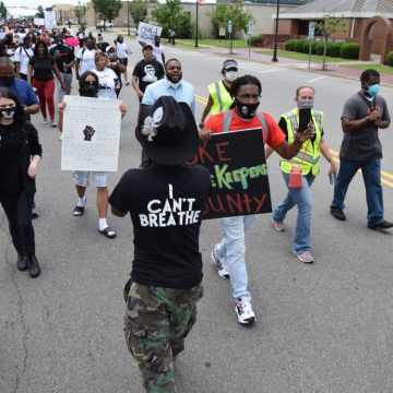 Hundreds march in Raeford, rally in memory of George Floyd