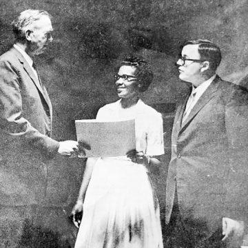 Mary Kemp Thomas was first grad of Sandhills