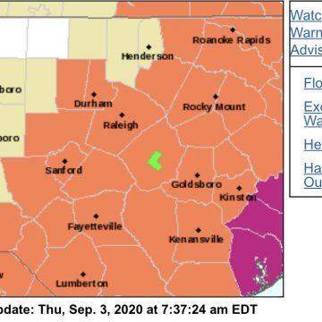 Hoke sees heat advisory Thursday