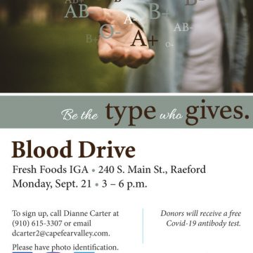 Blood drive in Raeford