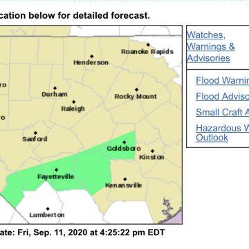 Flood advisory for Hoke County