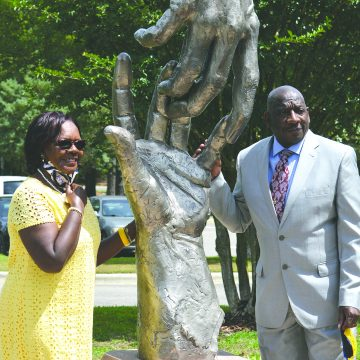Dr. Mary K., first Sandhills grad, honored with sculpture