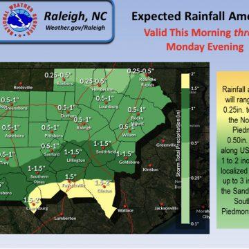 Tropical Depression Claudette brings rain, storms through Monday